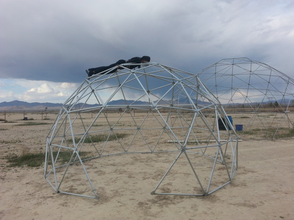 Planking on 16ft wide 10ft tall 3v dome frame