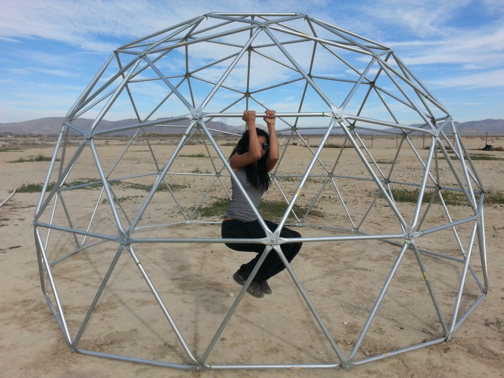 climbable geodesic dome frame